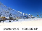passo del tonale  south tyrol... | Shutterstock . vector #1038332134