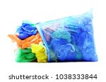 garbage plastic bags on white   Shutterstock . vector #1038333844
