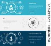 entrepreneurship 3 horizontal... | Shutterstock .eps vector #1038334309