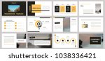 slides. modern presentation... | Shutterstock .eps vector #1038336421