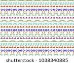 elegant vintage floral pattern ... | Shutterstock .eps vector #1038340885