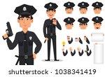 police officer  policeman. pack ... | Shutterstock .eps vector #1038341419