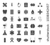 medicine solid web icons.... | Shutterstock .eps vector #1038342457