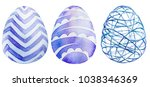 watercolor set of colored...   Shutterstock . vector #1038346369