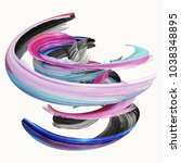 3d rendering  abstract twisted... | Shutterstock . vector #1038348895