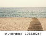 Beach Boardwalk Sunset In Playa ...