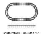 locomotive railroad track frame ... | Shutterstock .eps vector #1038355714