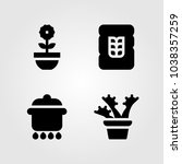 garden icons set. vector... | Shutterstock .eps vector #1038357259
