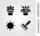 house plants vector icon set.... | Shutterstock .eps vector #1038359665