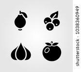fruits vegetables vector icon... | Shutterstock .eps vector #1038360949