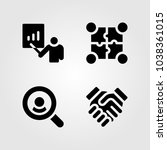 discussion vector icon set.... | Shutterstock .eps vector #1038361015