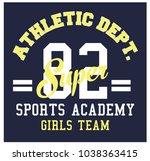 athletic dept. college... | Shutterstock .eps vector #1038363415