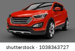 compact city crossover red...   Shutterstock . vector #1038363727