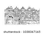 borobudur or barabudur is a 9th ...   Shutterstock .eps vector #1038367165