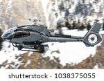 courchevel altiport  france  ... | Shutterstock . vector #1038375055