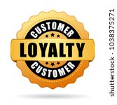 customer loyalty program gold... | Shutterstock .eps vector #1038375271