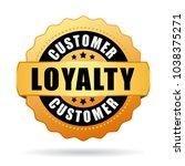 customer loyalty program gold... | Shutterstock .eps vector #1038375271