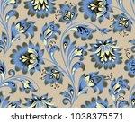 floral seamless pattern. flower ... | Shutterstock .eps vector #1038375571