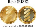 set of physical golden coin...   Shutterstock .eps vector #1038375781
