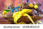 happy easter hamper of...   Shutterstock . vector #1038382015