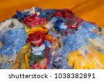 Small photo of colorful candle wax, good background and afterimage