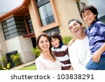 beautiful family portrait... | Shutterstock . vector #103838291