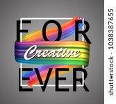 abstract paint brush stroke... | Shutterstock .eps vector #1038387655