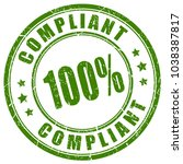 compliant green ink stamp... | Shutterstock .eps vector #1038387817