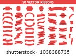 flat vector ribbons banners... | Shutterstock .eps vector #1038388735
