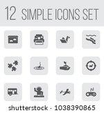 Set Of 12 Lifestyle Icons Set....
