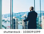 professional trader in formal... | Shutterstock . vector #1038391099
