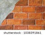 brick 0ld concrete wall mixed... | Shutterstock . vector #1038391861