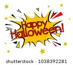 happy halloween  sign with... | Shutterstock .eps vector #1038392281