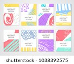 abstract colorful backgrounds... | Shutterstock .eps vector #1038392575