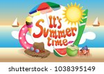 it's summer time poster. ... | Shutterstock .eps vector #1038395149