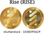 set of physical golden coin...   Shutterstock .eps vector #1038395629