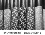 casino   poker chips colorful... | Shutterstock . vector #1038396841