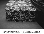 casino   poker chips colorful... | Shutterstock . vector #1038396865
