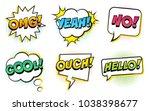 retro comic speech bubbles set...   Shutterstock .eps vector #1038398677