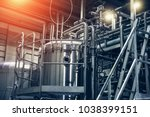 stainless steel brewing... | Shutterstock . vector #1038399151