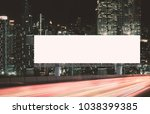 blank billboard outdoors ... | Shutterstock . vector #1038399385
