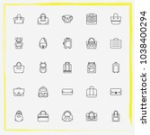 bags line icon set shoulder bag ... | Shutterstock .eps vector #1038400294