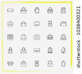 bags line icon set tote ...   Shutterstock .eps vector #1038400321