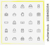 bags line icon set briefcase ...   Shutterstock .eps vector #1038400354
