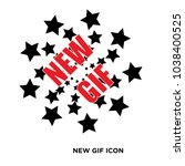 new gif icon flat vector sign...