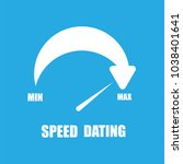 speed dating icon flat vector...   Shutterstock .eps vector #1038401641