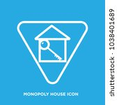 monopoly house icon in...