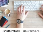 work in office usually day | Shutterstock . vector #1038404371