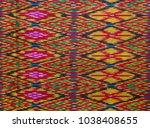 vintage thai tradition silk... | Shutterstock . vector #1038408655