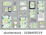 corporate identity template set.... | Shutterstock .eps vector #1038409219